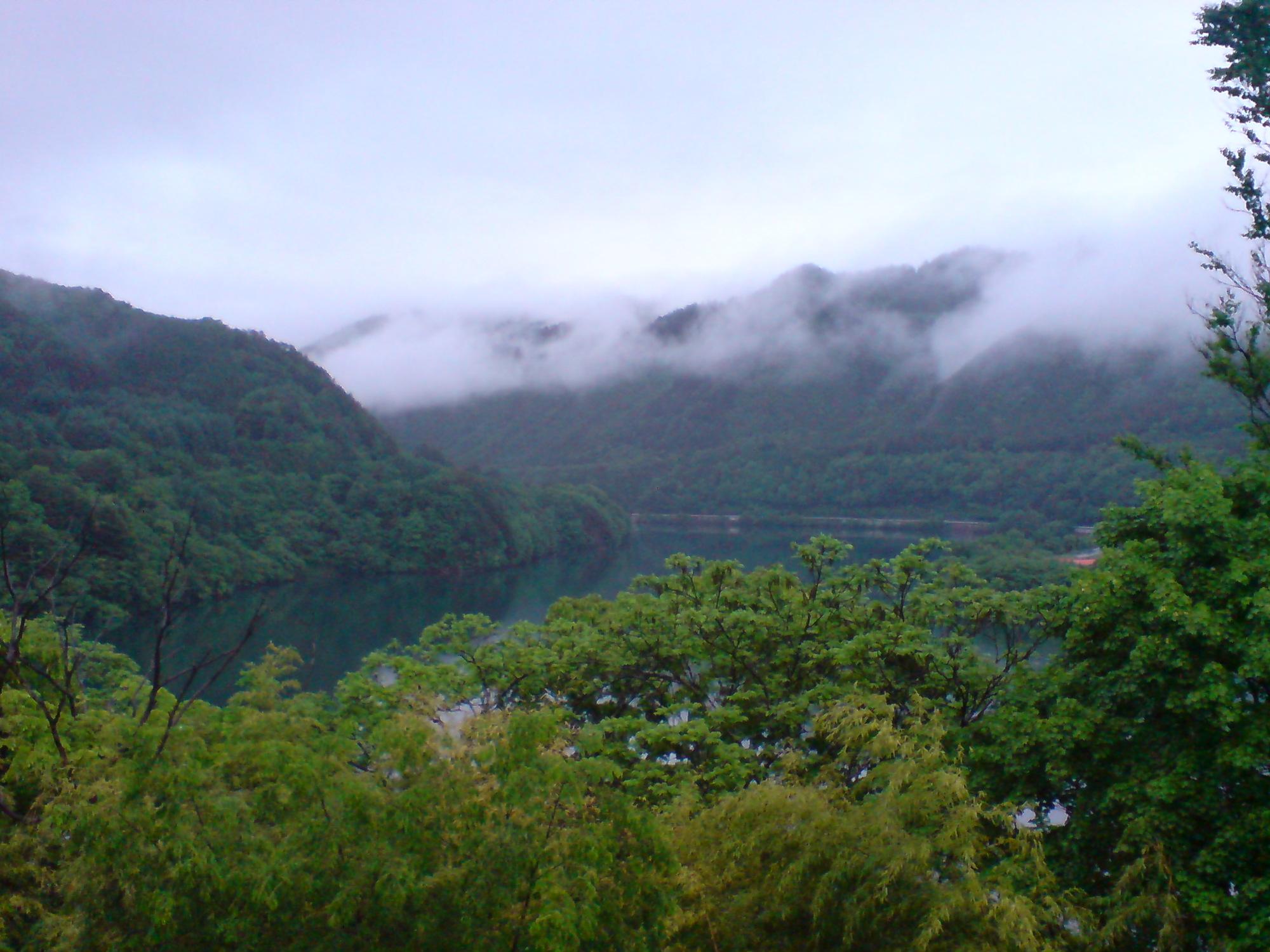 王滝速報―旅館からの風景